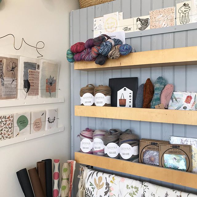 Getting all set up for my pop-up at @gleenashop for the fall season!  Check it out at 2114 S. Taylor Rd in Cleveland Heights. You can find me in person at the shop next Thursday, October 10, 2-6pm. If you don't already follow @gleenashop you should stop by and see all the beautiful hand crafted and fun items Asya carries in her shop. 💚  #clevelandheights #handmadegift #shopcle
