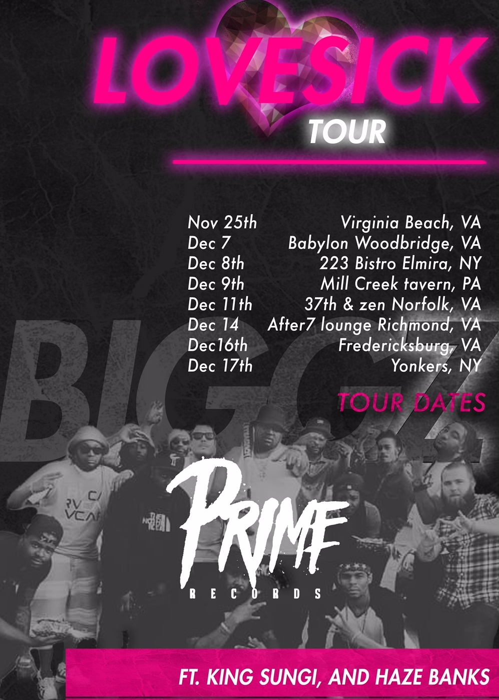 THE LOVE SICK TOUR COMING TO A VENUE NEAR YOU SOON ---WINTER 2017---