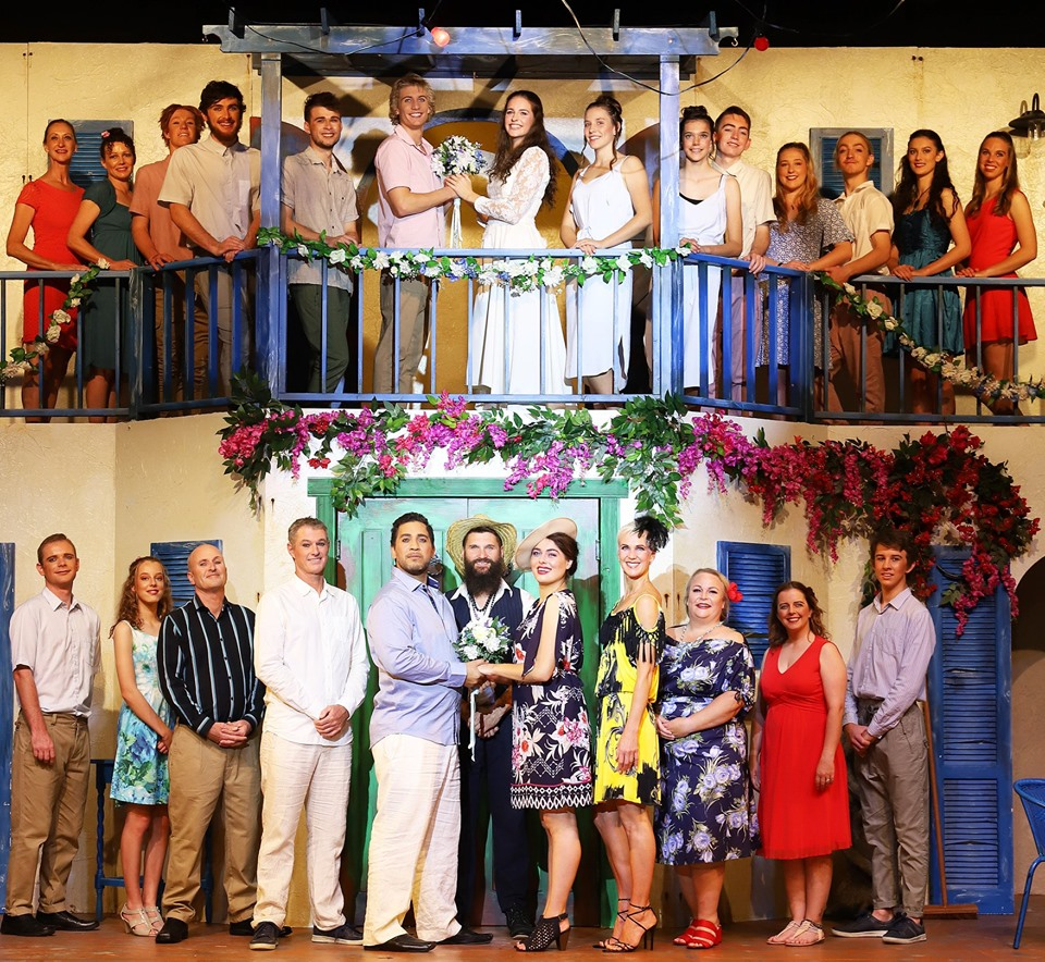 The Mamma Mia cast enjoyed the show just as much as their audience. Photo credit: John Morin.