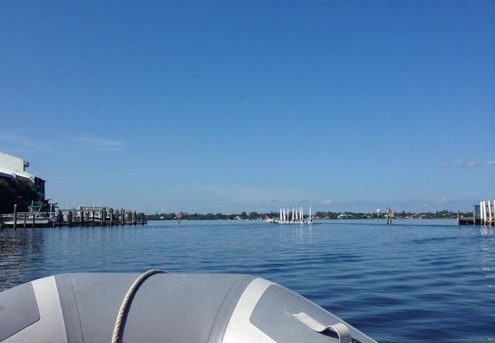 A view from the coachboat out onto the Manatee River.