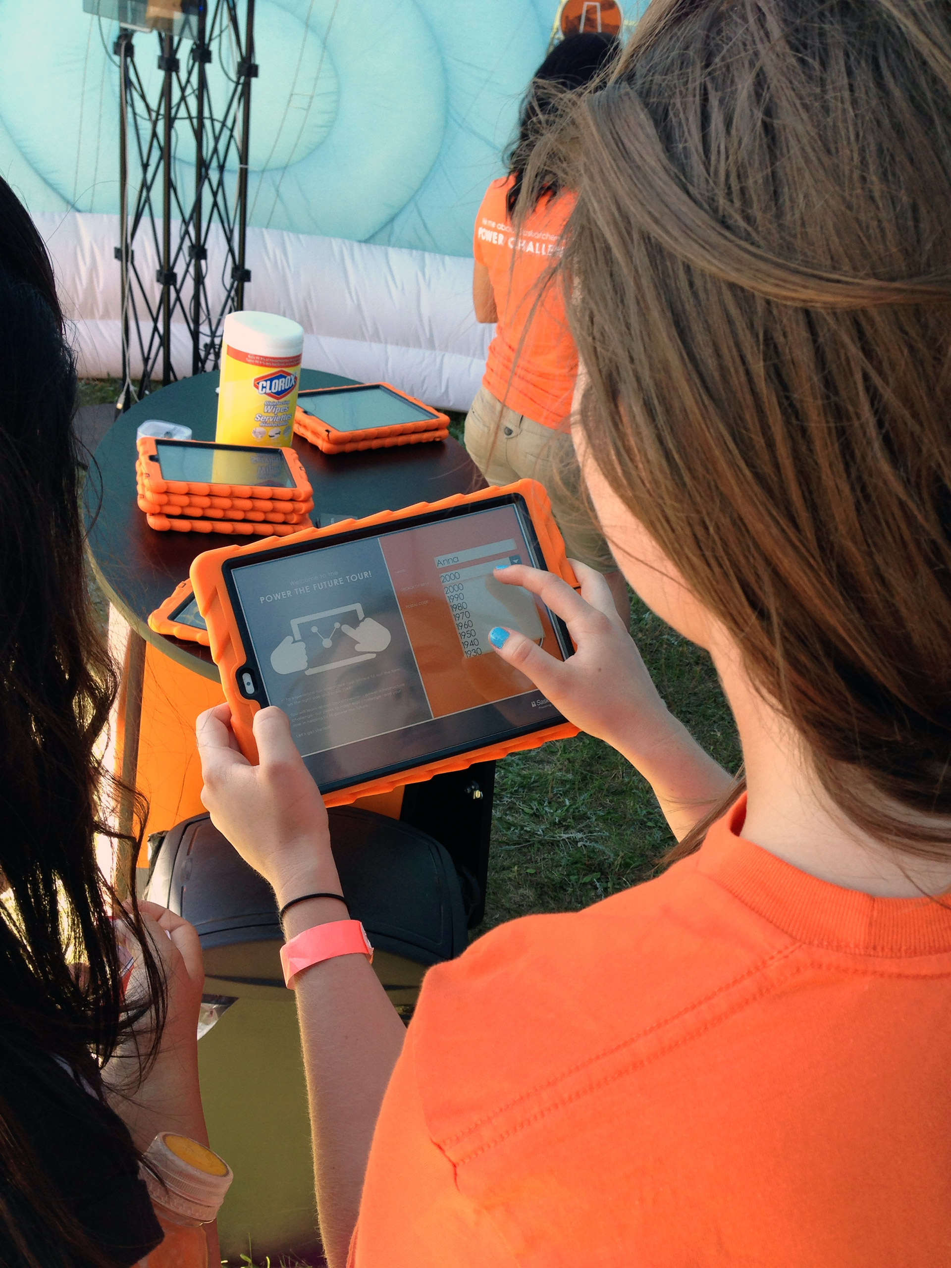 SaskPower App - App development for Powering the Future experimental booth. Tablet only