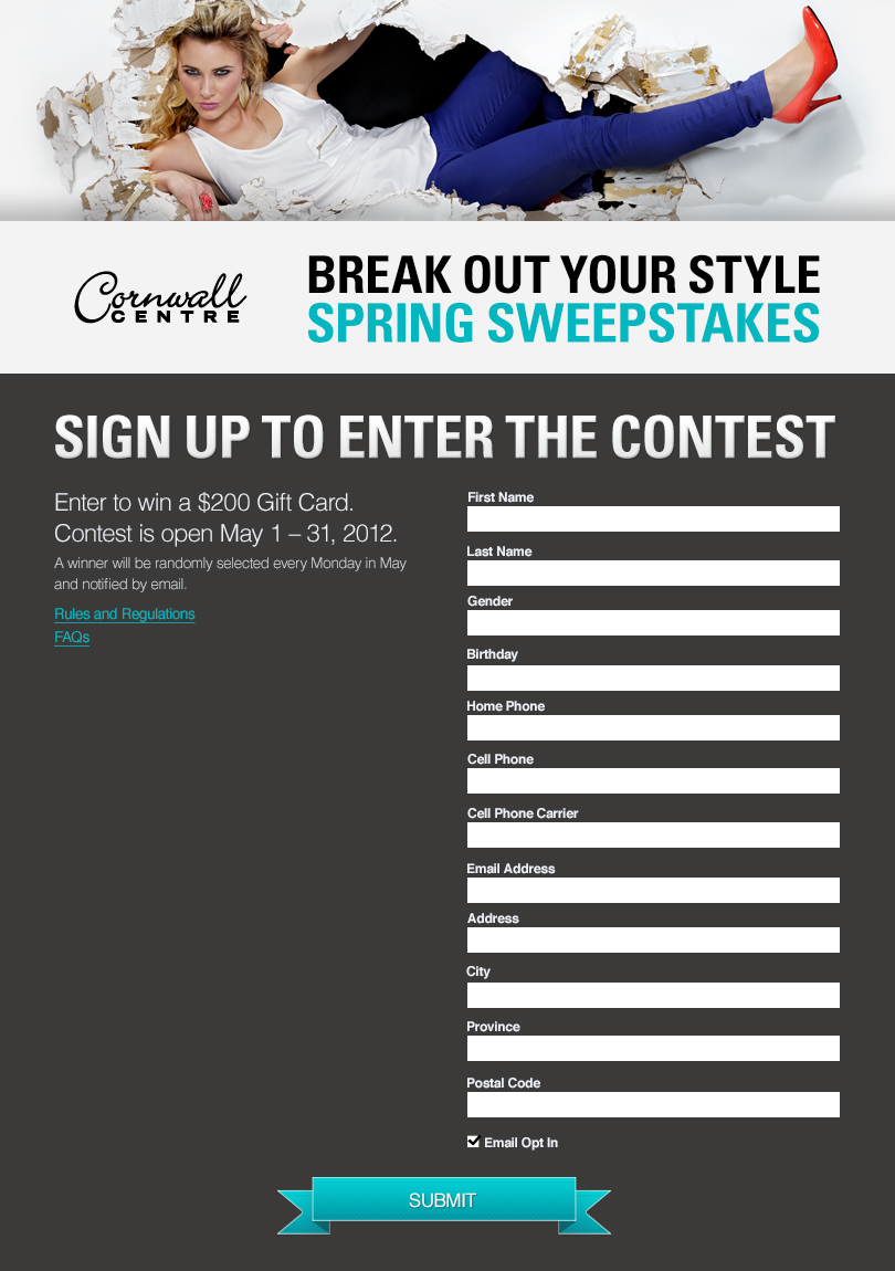 Break out your style - Social contest concept and execution.