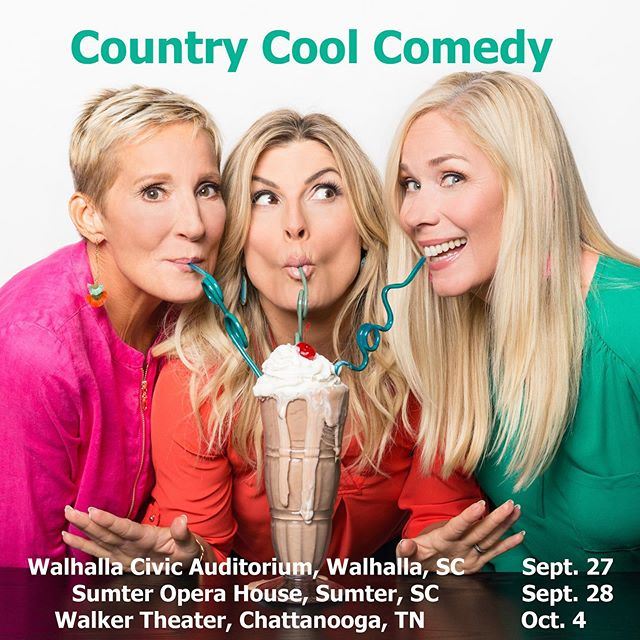 Y'all we are on the road again this fall!  TOUR DATES:  9/27 Wahalla, SC 9/28 Sumter, SC  10/4 Chattanooga, TN  FOR TICKETS 🎟Go to Countrycoolcomedy.com or the link in our bio  We can't wait to see y'all! ❤️🙌🏼🎟 #comedy #countrycool #funny #southern