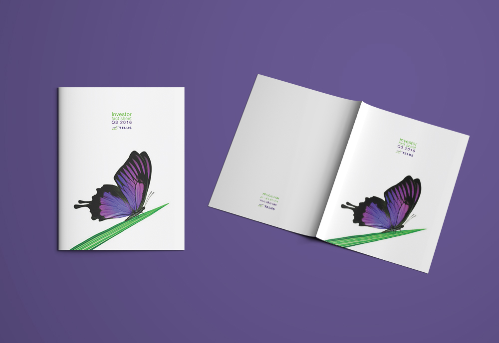 Telus Financial Document Front Cover Mockup