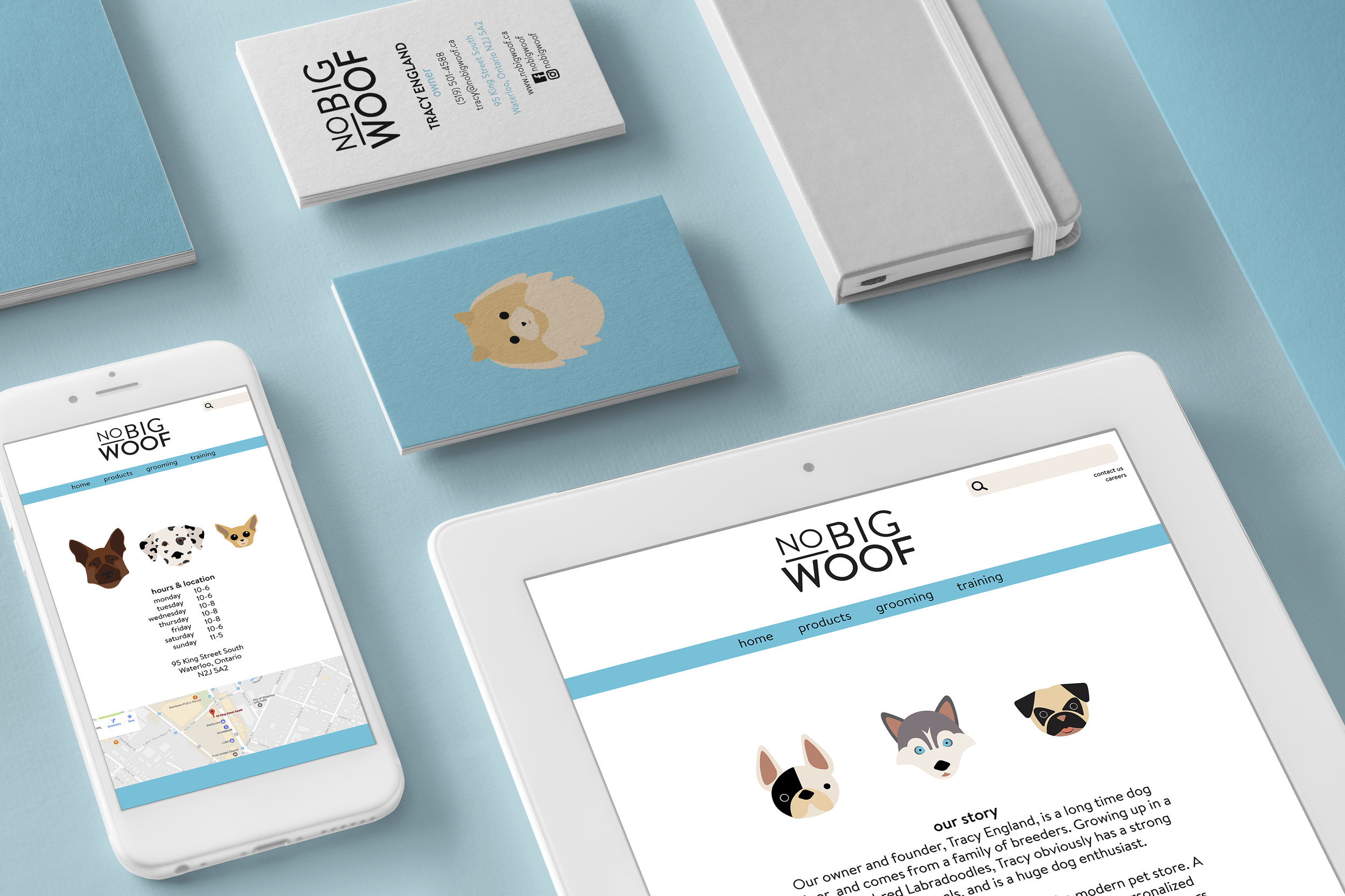 No Big Woof Design System Flatlay Mockup