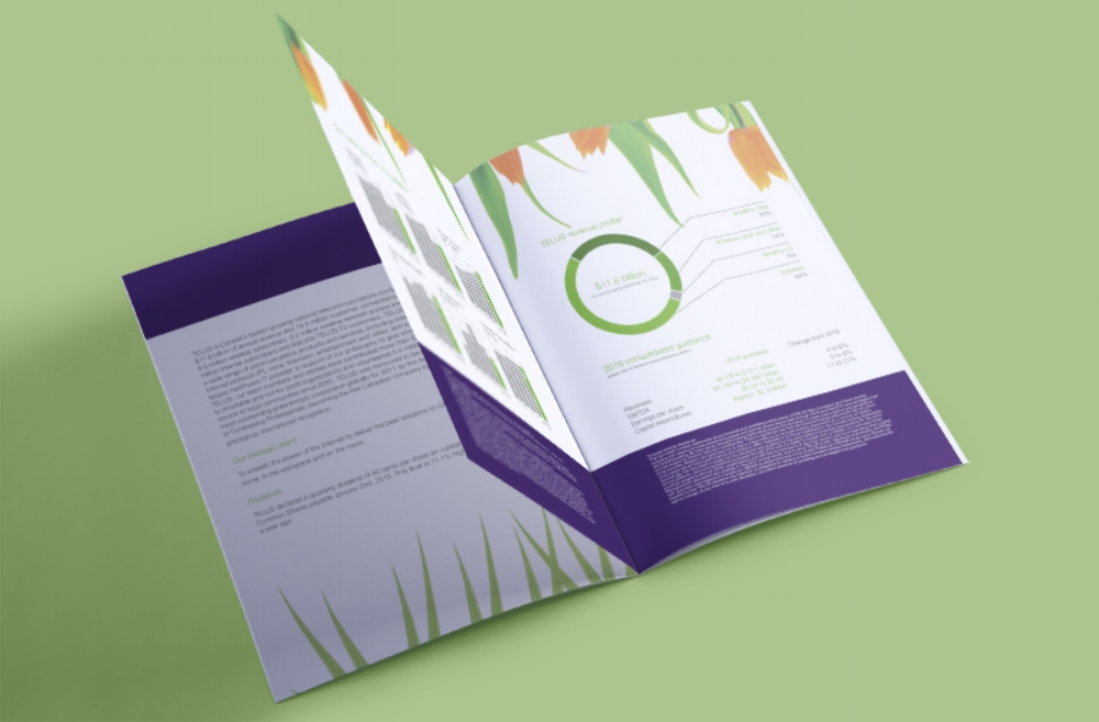 Telus Financial Document Graphs Page Mockup