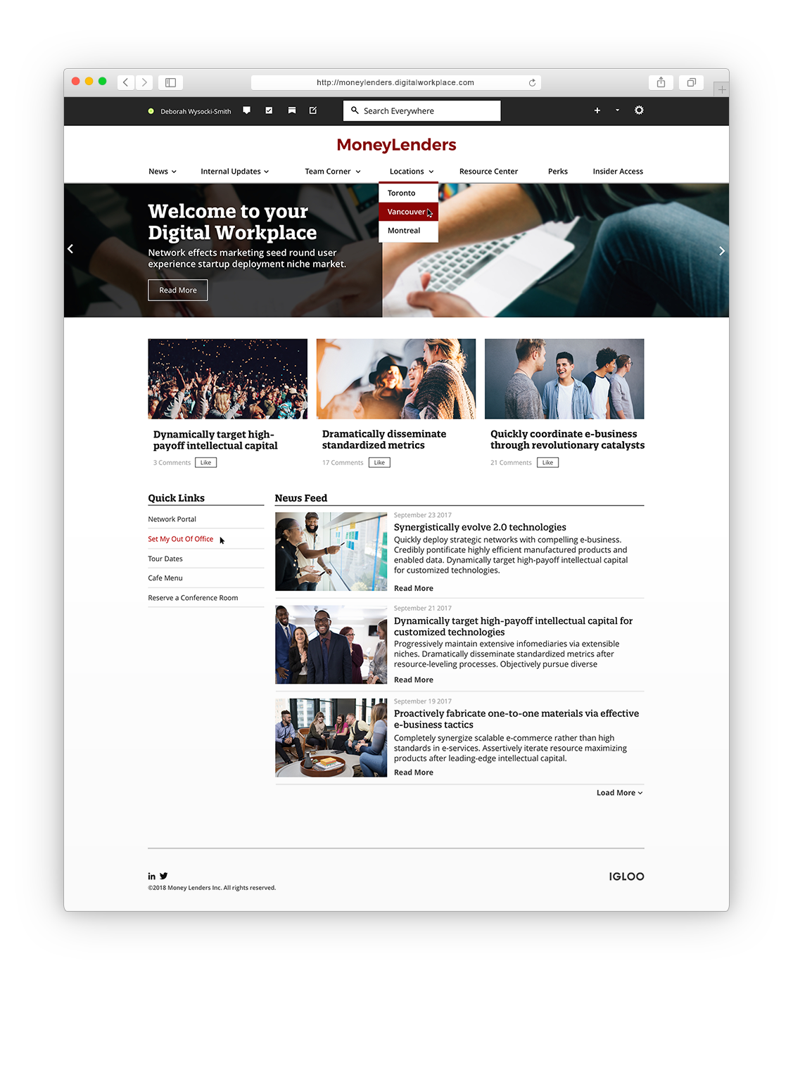 Mortgage Lenders Digital Workplace Mockup