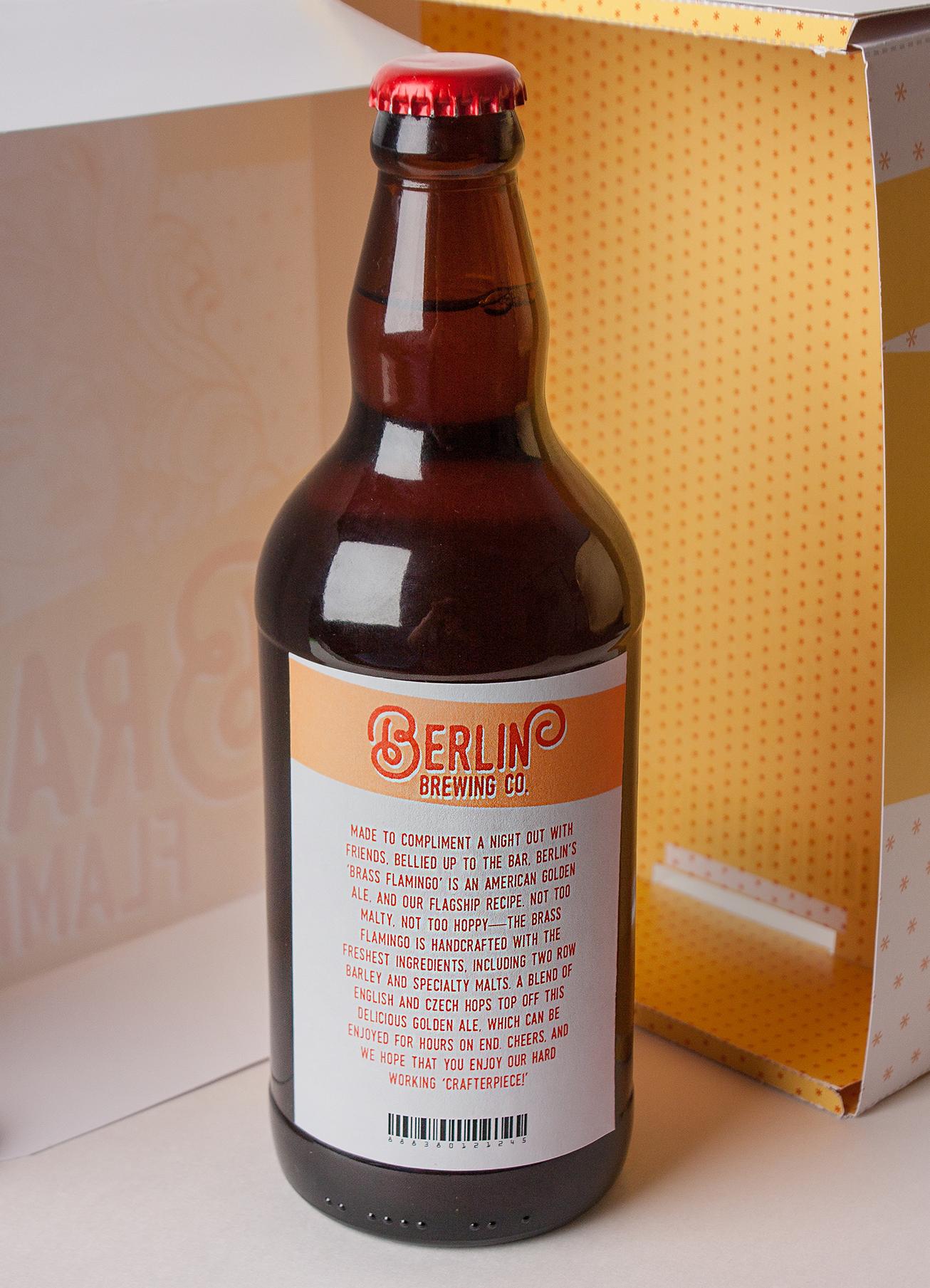 Brass Flamingo Craft Beer Backside Label