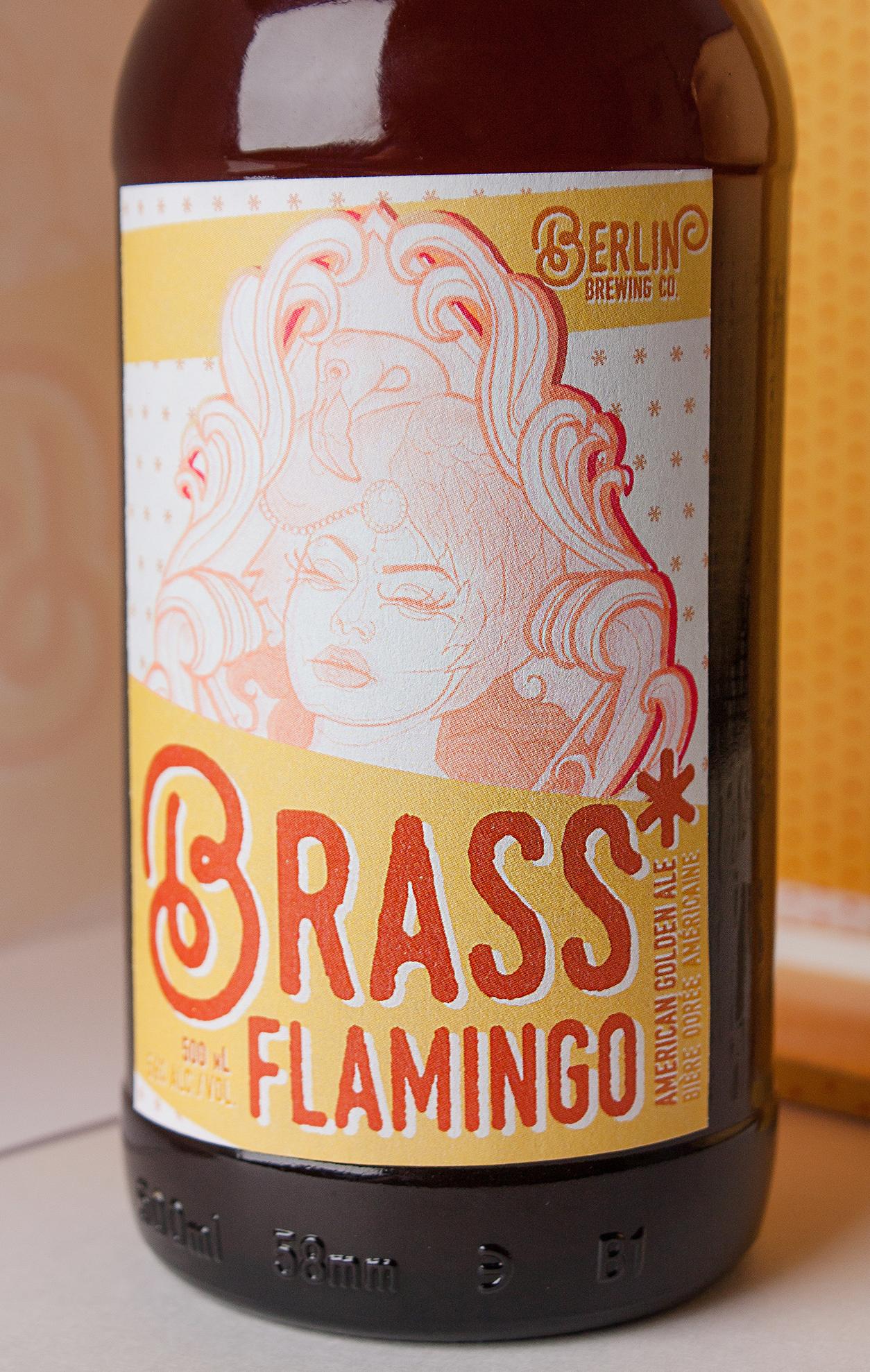 Brass Flamingo Craft Beer Mockup