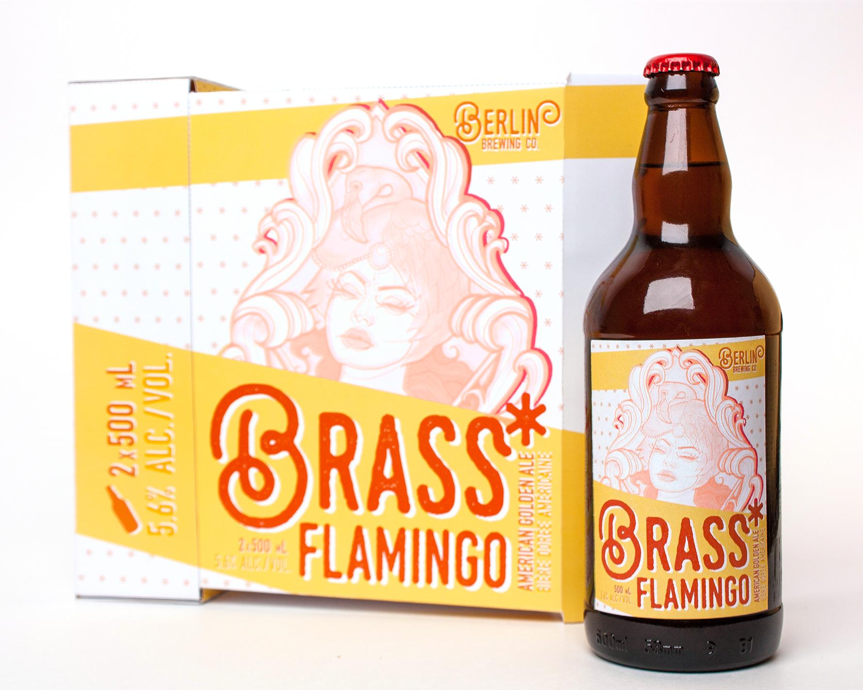 Brass Flamingo Craft Beer Packaging