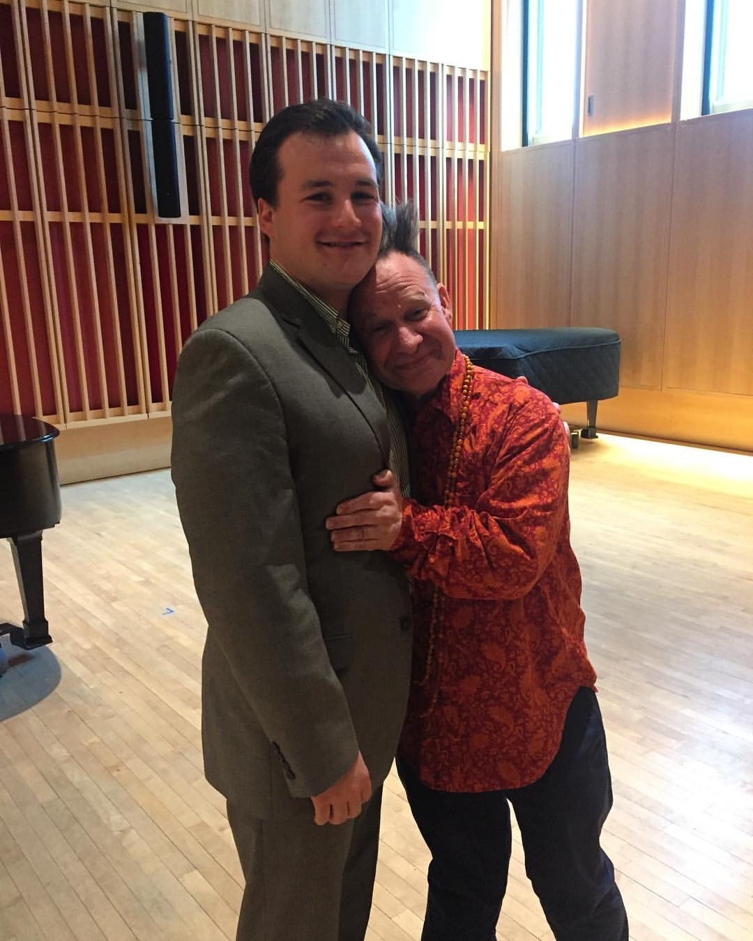 Eric with Peter Sellars after a masterclass.