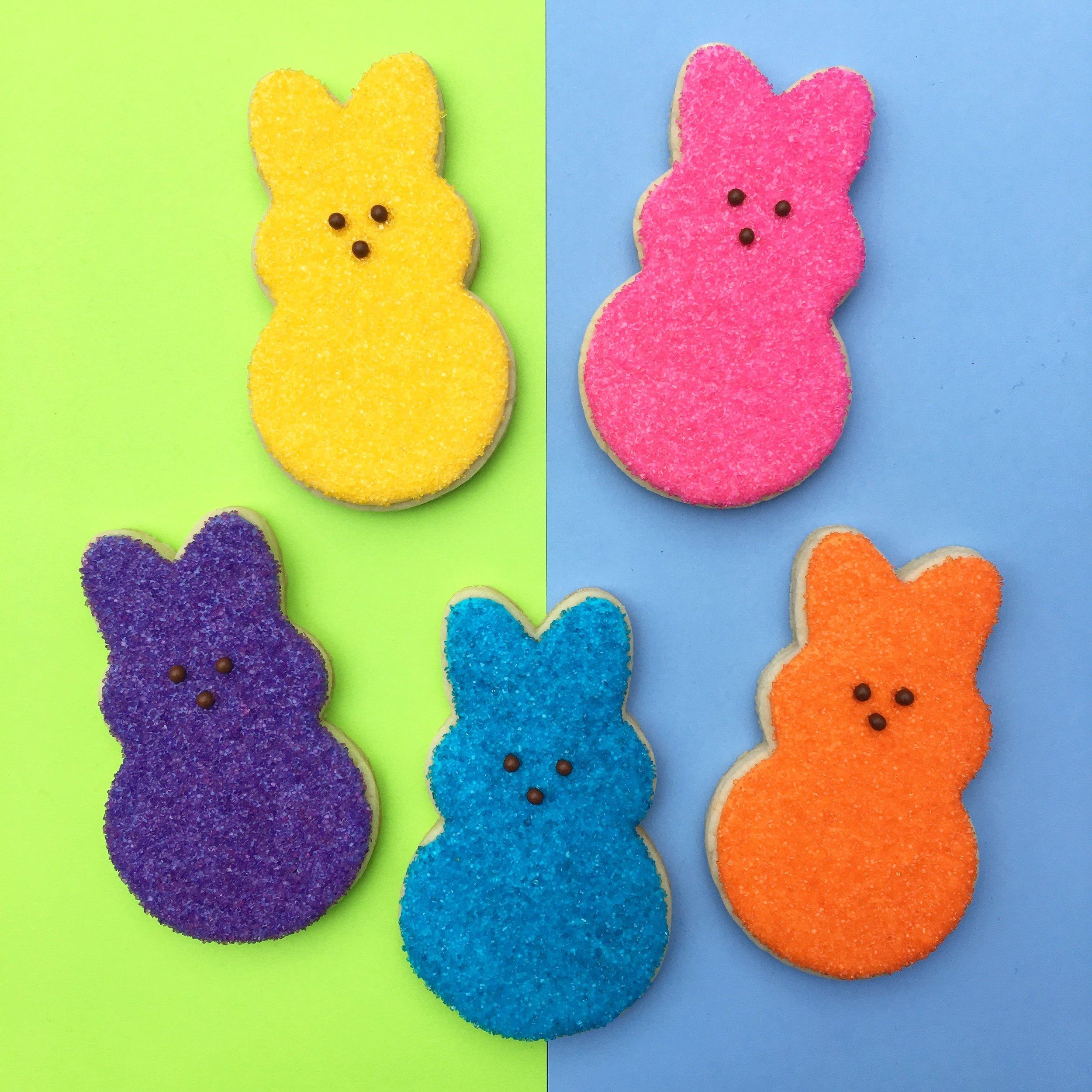 Custom Easter Bunny Sugar Cookies