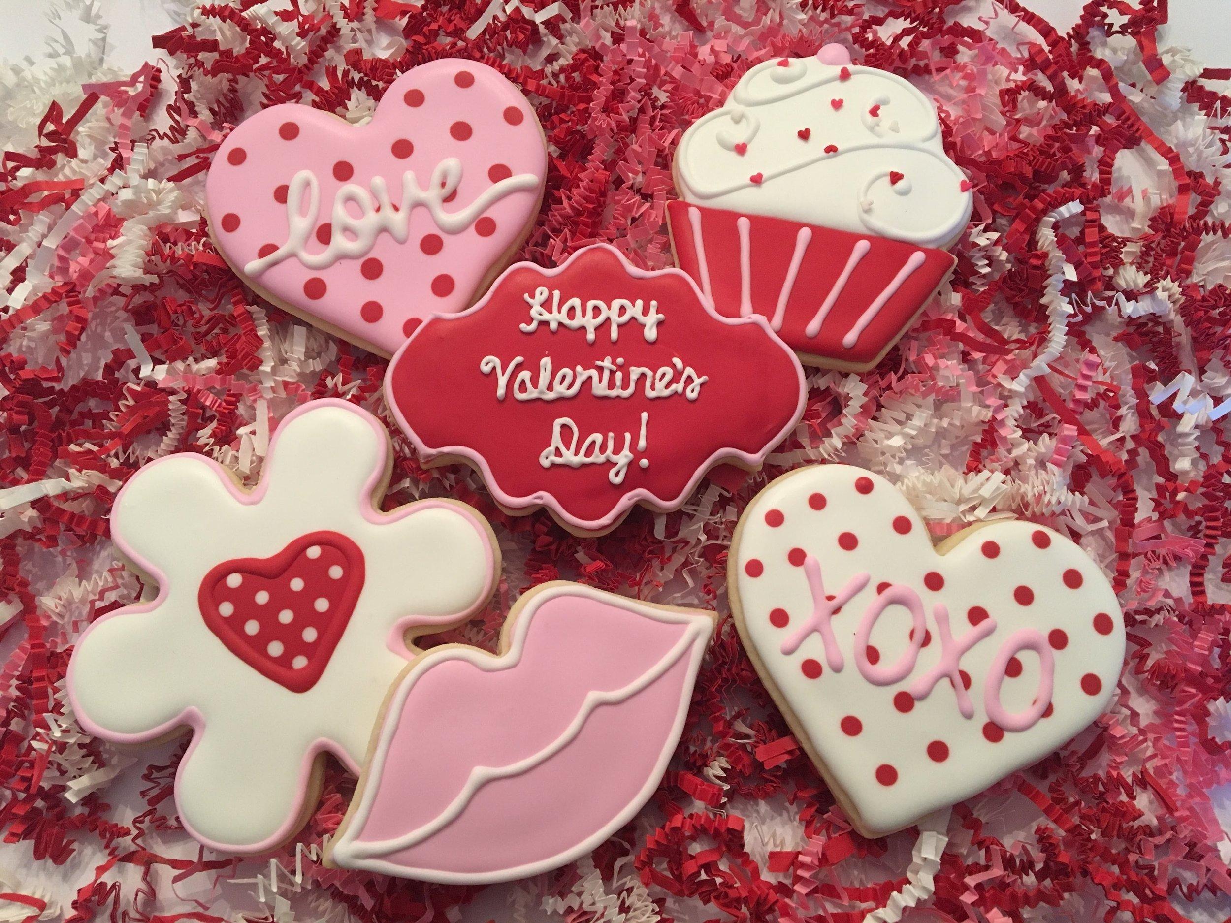 Valentine's Day Custom Sugar Cookies