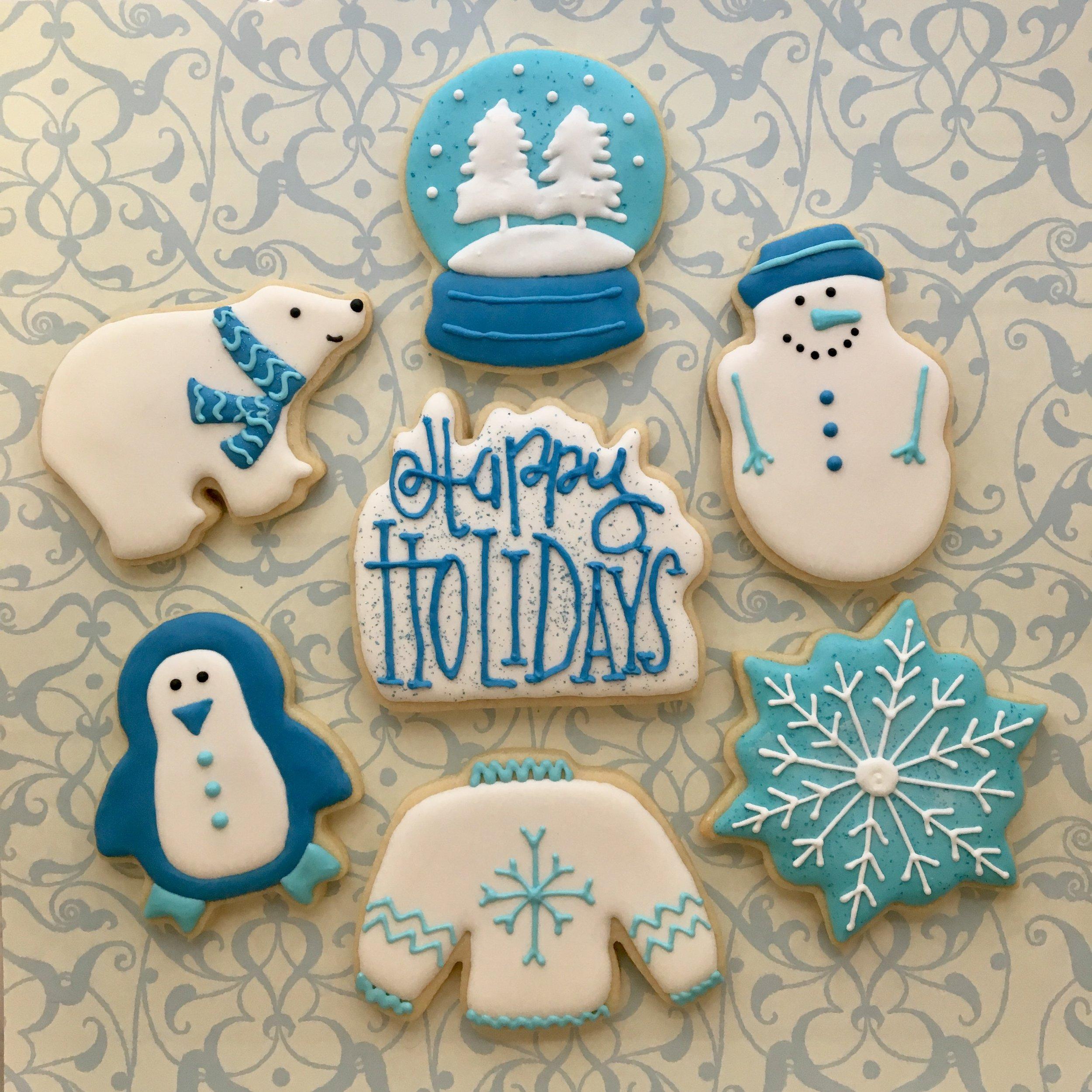 Winter Holiday Sugar Cookies