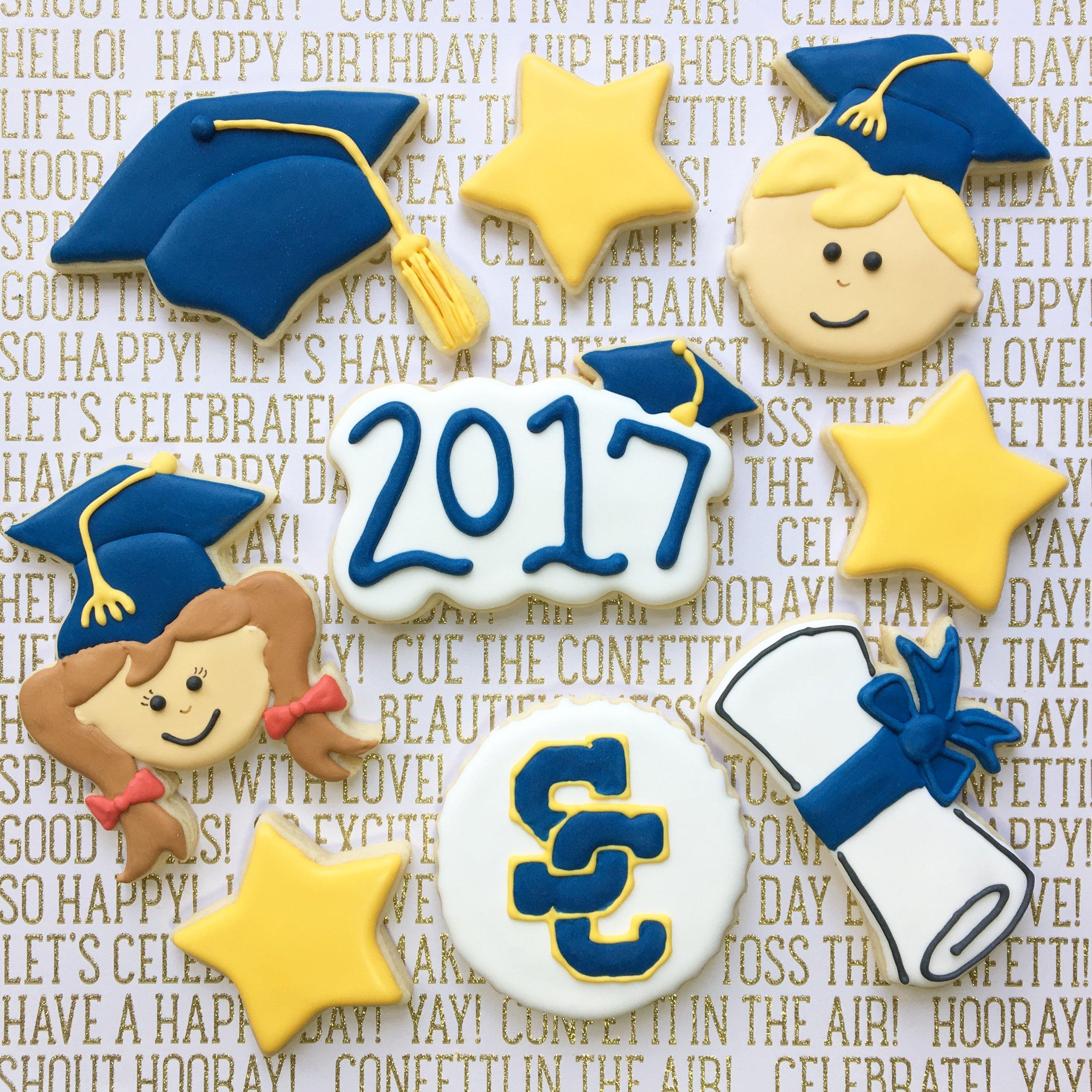 Custom Graduation Sugar Cookies