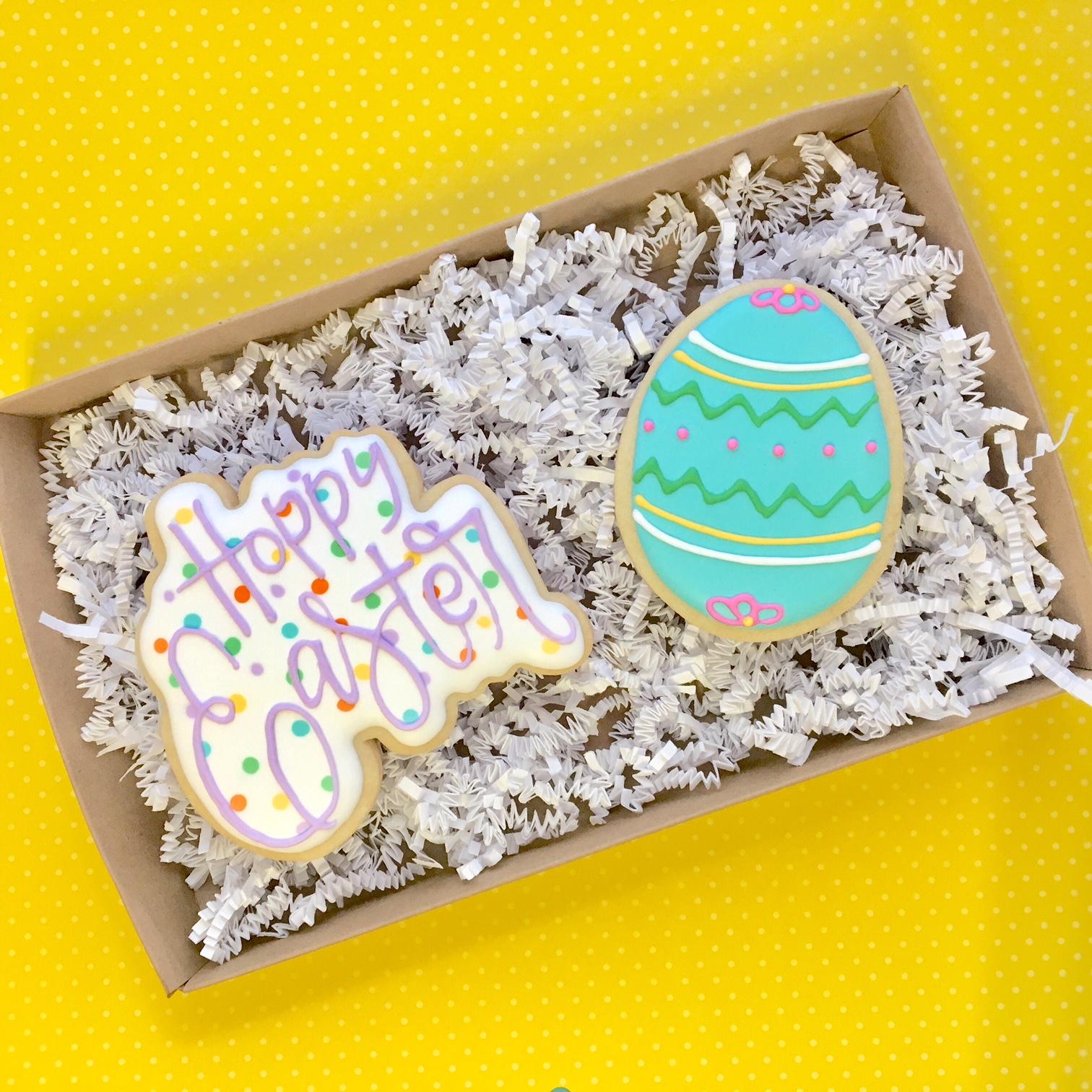 Easter Sugar Cookies 2-pack Gift Box