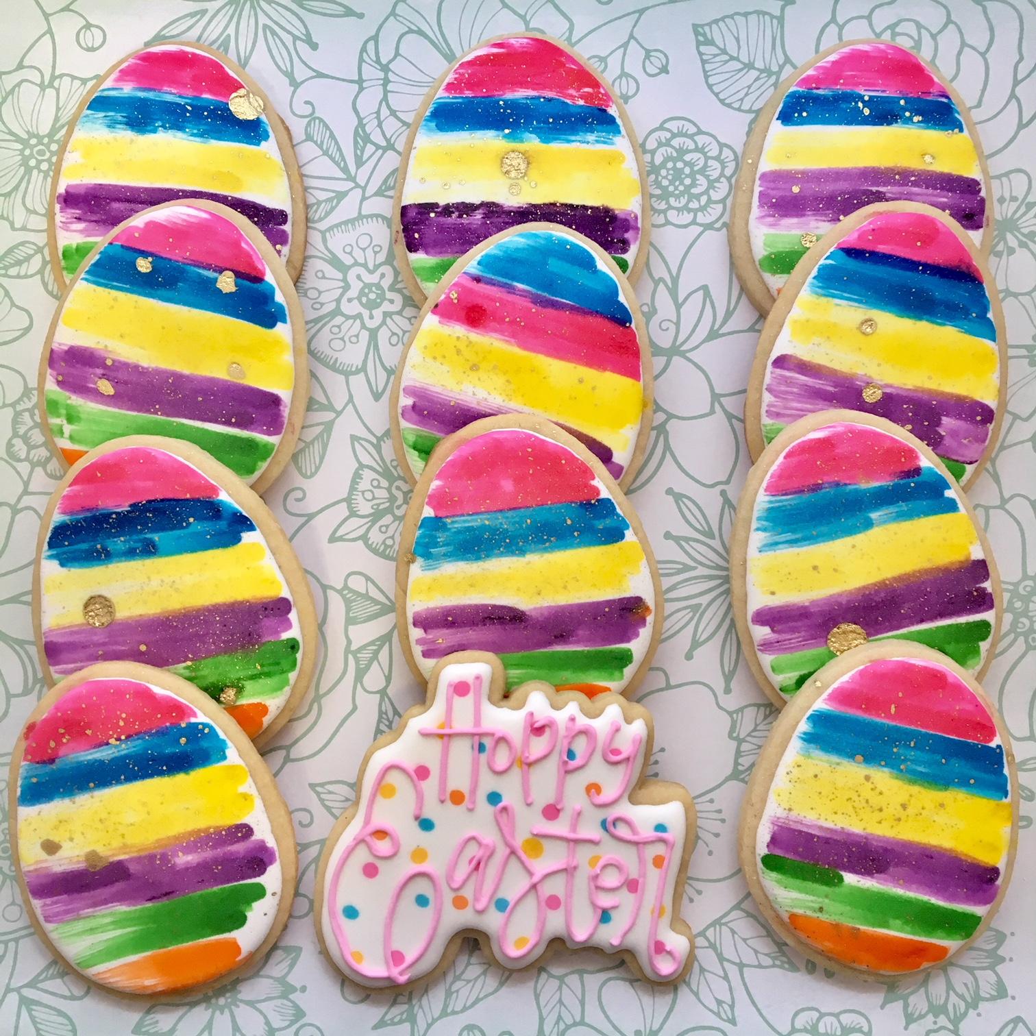 Easter Egg Custom Sugar Cookies