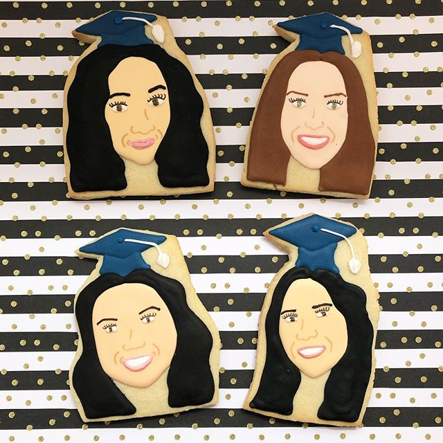 This fab foursome just graduated high school! 🎓🌟 #graduationcookies #graduation #graduation2019 #graduation2019🎓 #grad #highschoolgraduation #highschoolgrad #portraitcookies #customfacecookies #facecookies #baking #sugarcookies #cookies #decoratedcookies #decoratedsugarcookies #edibleart #customcookies #cookieart #cookiedecorating #cookiesofinstagram #instagood #royalicing #thisisCLE #CLE #mksweetsco