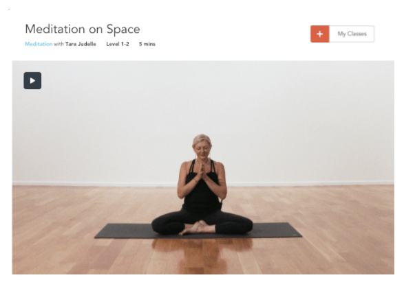 In my latest Yogaglo class we practice a  Meditation on Space . Dissolve the boundaries of self as you meditate on softening the grip of your ego, your thinking mind.