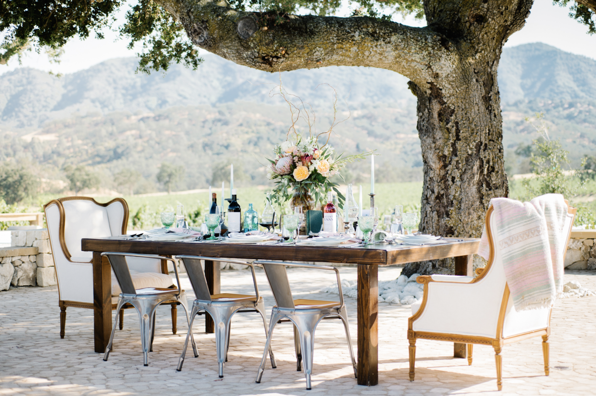 california wedding venue: oyster ridge at ancient peaks winery