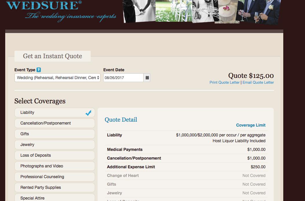 wedsure wedding insurance