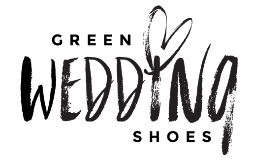 clover and branch floral on green wedding shoes