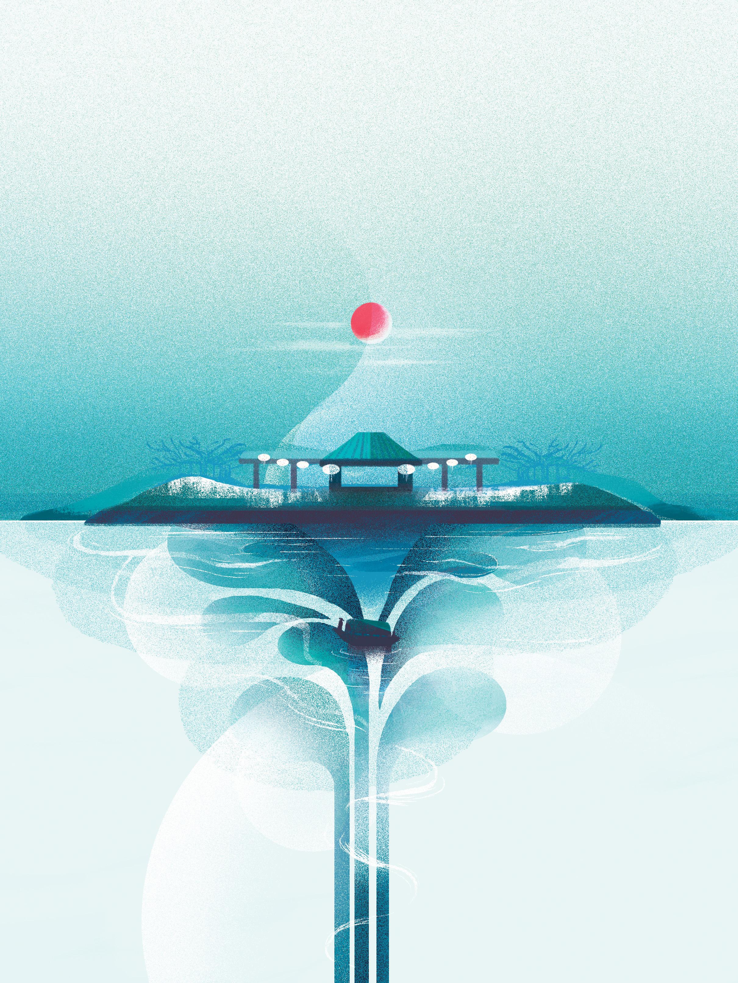 Jinan, Editorial illustration