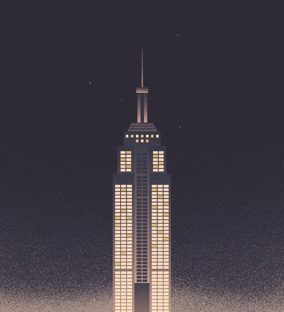 NY, Digital illustration