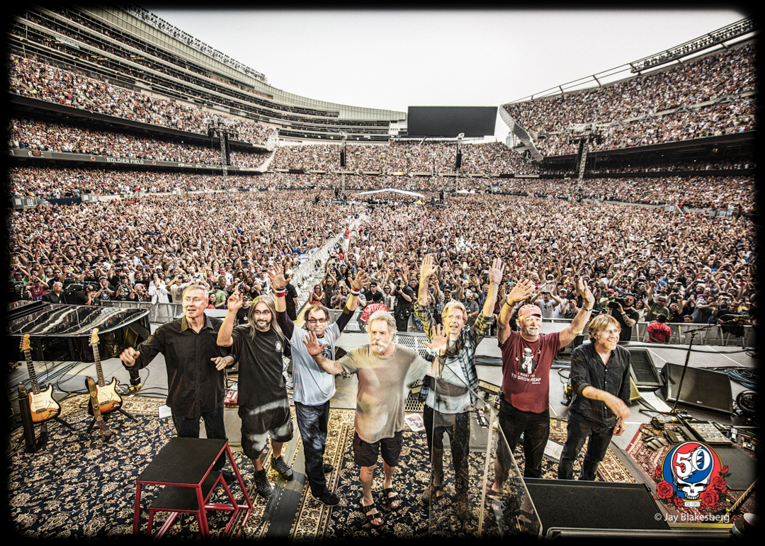 The Grateful Dead, Crowd Wave, July 5, 2015  Photo by Jay Blakesberg