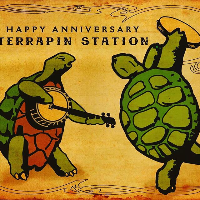 Happy 41st anniversary.Terrapin Station! #gratefuldead #woodstockartistcollective