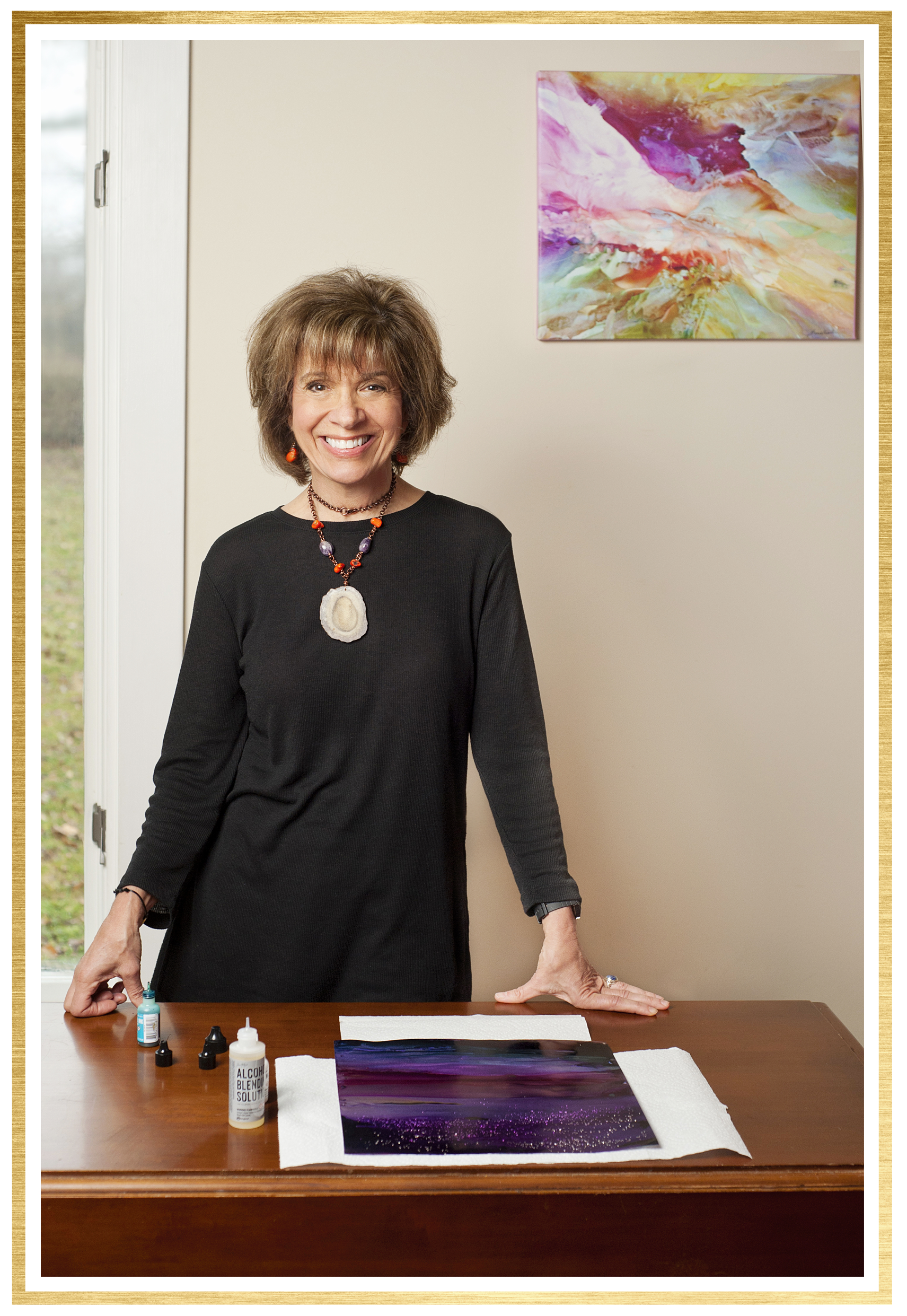 I'm Alexis Bonavitacola. - I'm an artist, teacher, mentor, entrepreneur, and passionate human being dedicated to leading a purposeful life.I specialize in abstract art, especially the energy, motion, and flow of alcohol inks. In addition, I work with encaustic wax and adore the fluidity of the molten wax to create unique floral images. I have 23 years as an educator, hold a PhD in education, love teaching students of all levels, and taking my art to new levels.I believe in the value of sharing our talents and giving back to inspire others to grow.