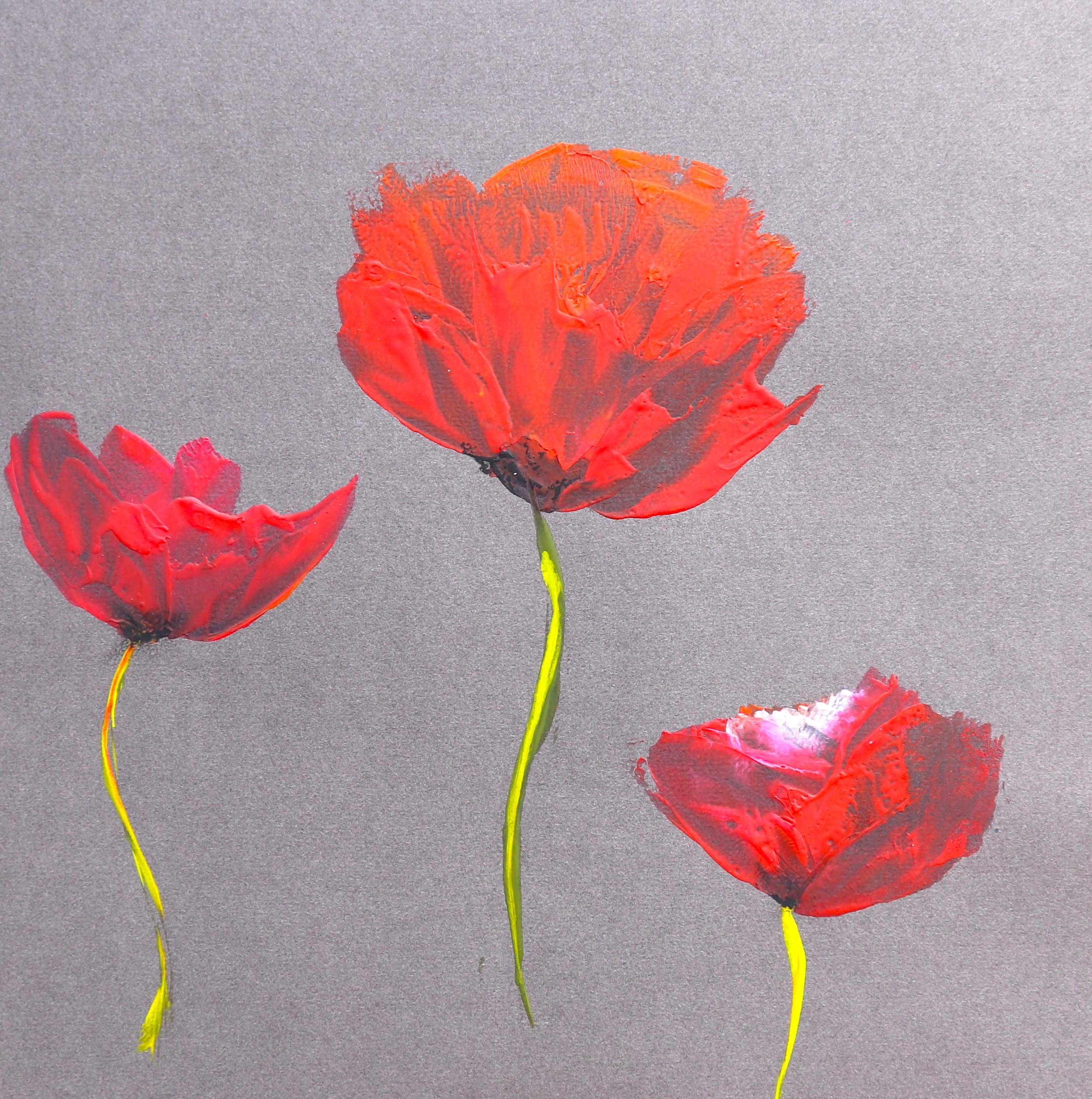 Three Single Poppies in Wax.JPG