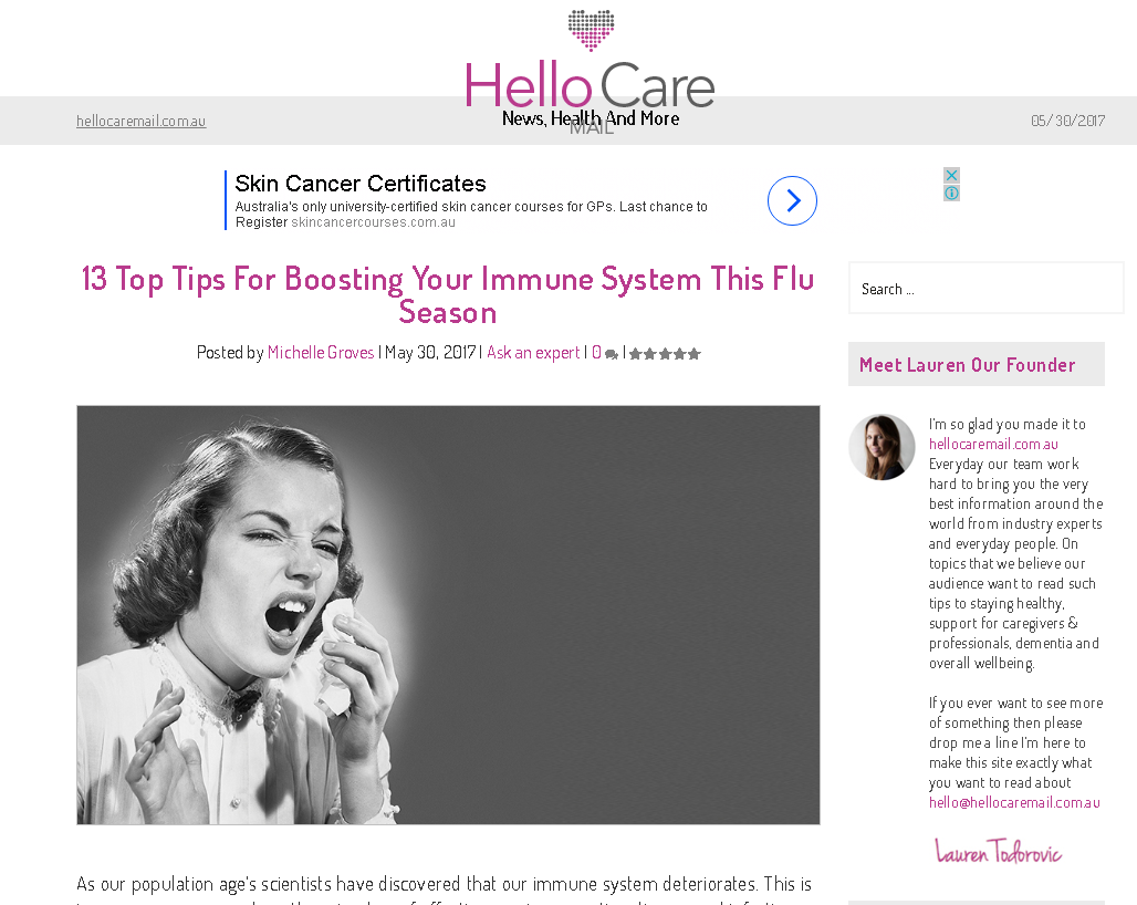HelloCare - tips to boost immunity