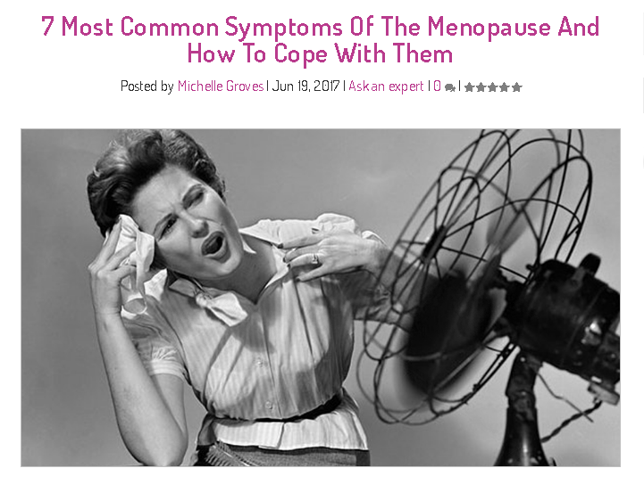 Menopause symptoms - Hello Care