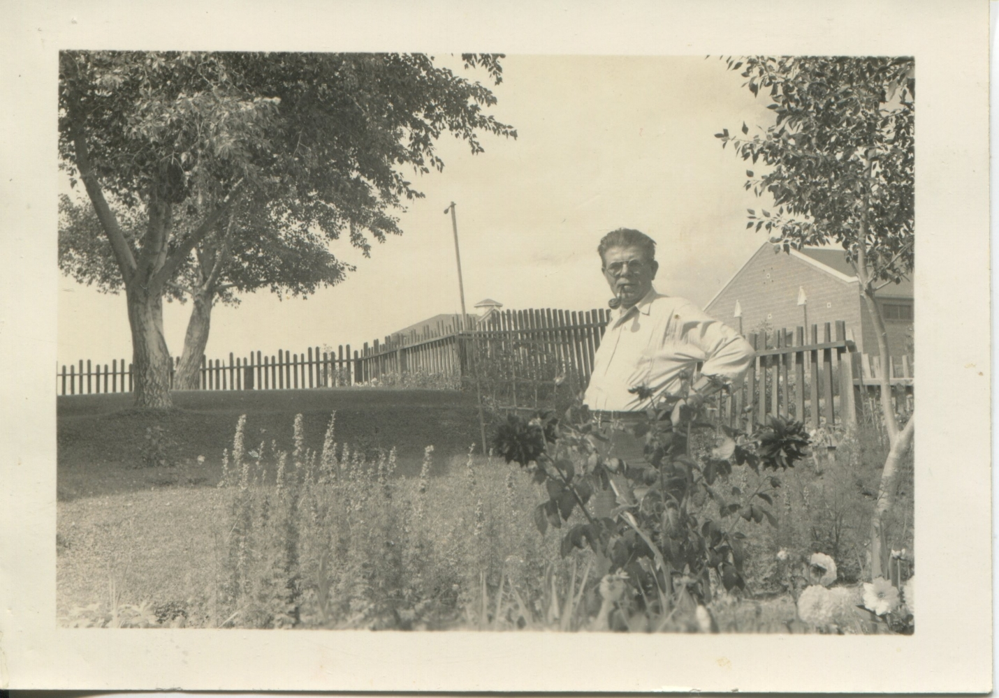 Edward Vollack surveying his yard in Reliance, Wyoming.