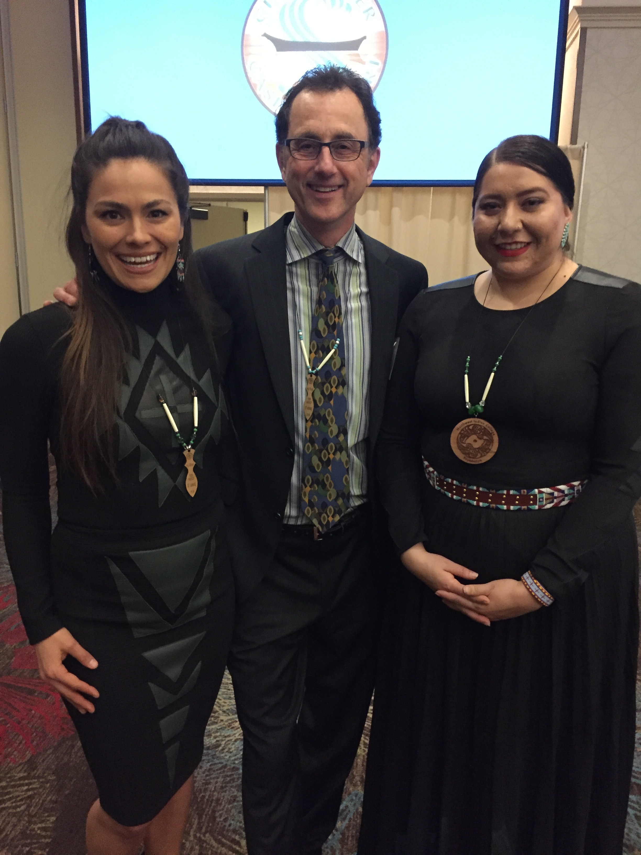Temryss Lane - Emcee, Mitch Lambley - Auctioneer and Bethany Yellowtail - Fashion Designer & Keynote Speaker