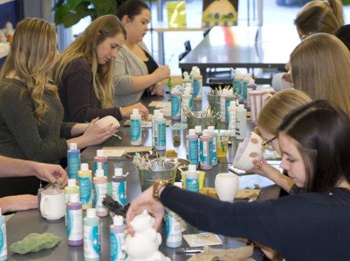 Ladies Night at Wet Paint Pottery Saskatoon