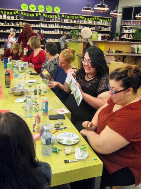 unique pottery painting and canvas painting classes for kids and adults