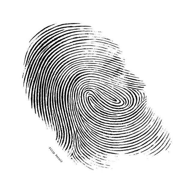NEW PORTRAIT! 🔎 Suspect fired 26 shots last night and left this fingerprint at the crime scene in Salt Lake City. Meet Suspect Harden, 31st portrait so far. Follow me @filiperaic. 🏀🎨 #fingerprint #thumb #suspect #crime #scene #fire #shot #jamesharden #illustration #portrait #playoffs #houston #rockets #beard #forensics