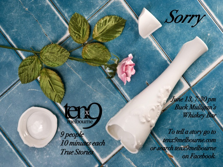 Sorry - Nine storytellers told us about being sorry- sorry for choices made, for bad manners, sorries in emails and sorries to classes full of students.It was a rad night, we are not sorry about it. Thanks to all who came and especially to all who shared with us!