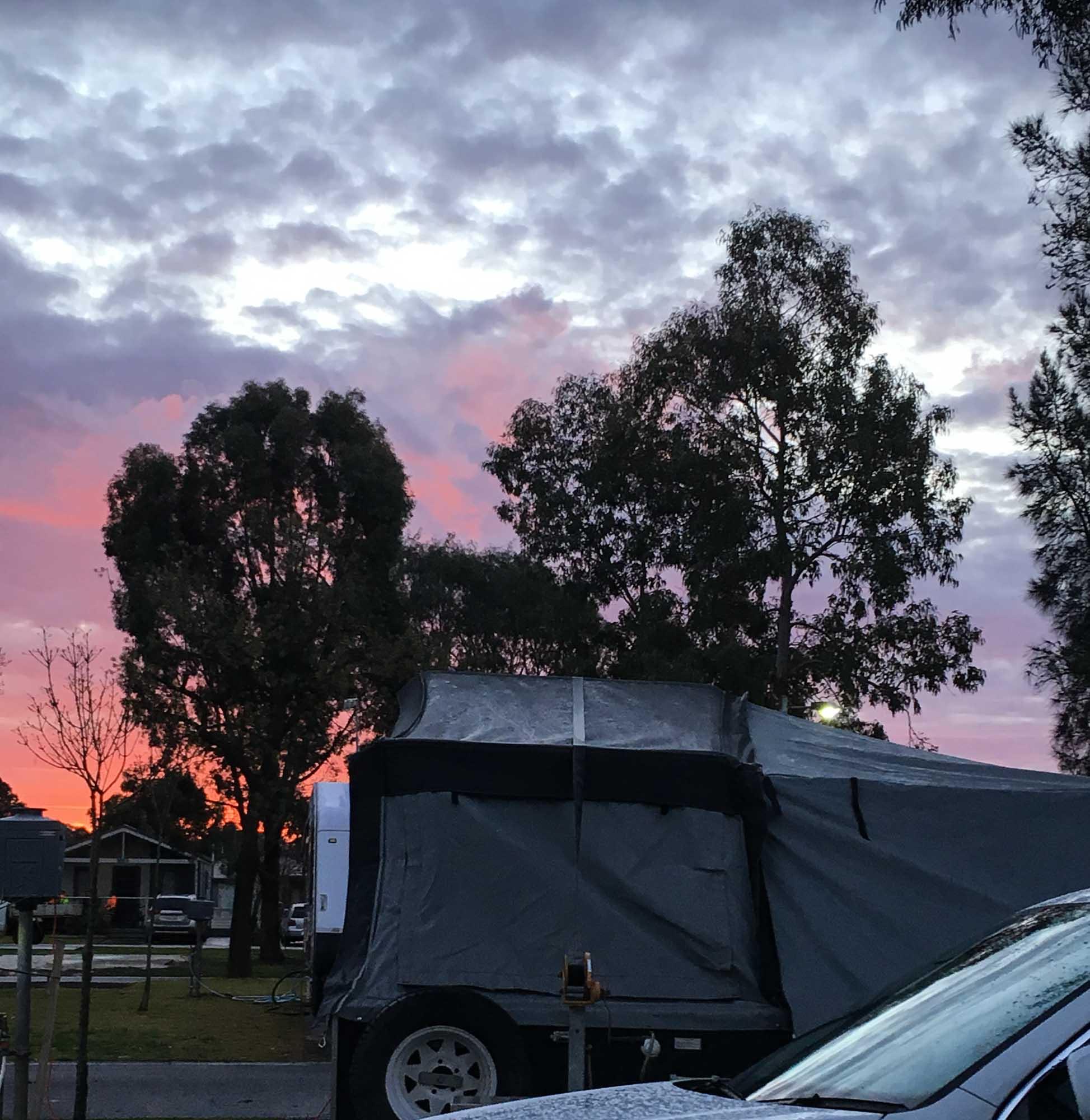 Bendigo: sunset, Day 2