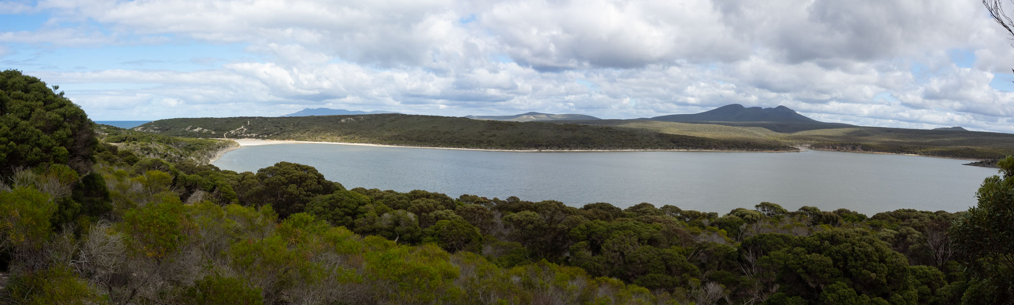 Hamersley Inlet, looking west from a ridge just above the campground