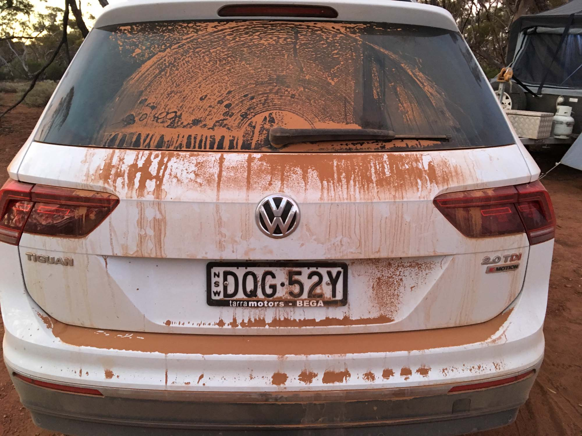 Anyone who has travelled in the outback knows this feeling. Fine red dust, everywhere!