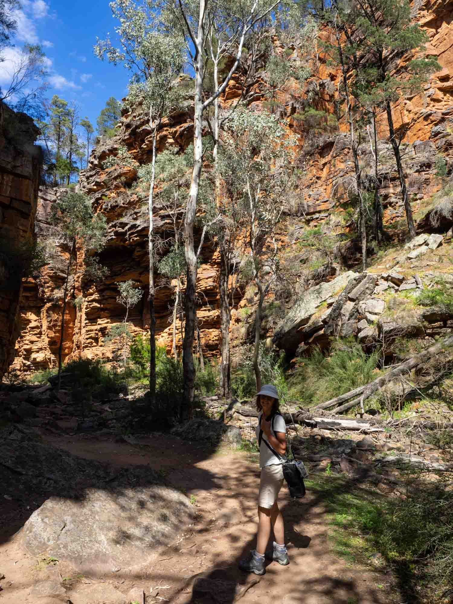 With temperatures climbing into the high 30s, the gorge was a cool retreat