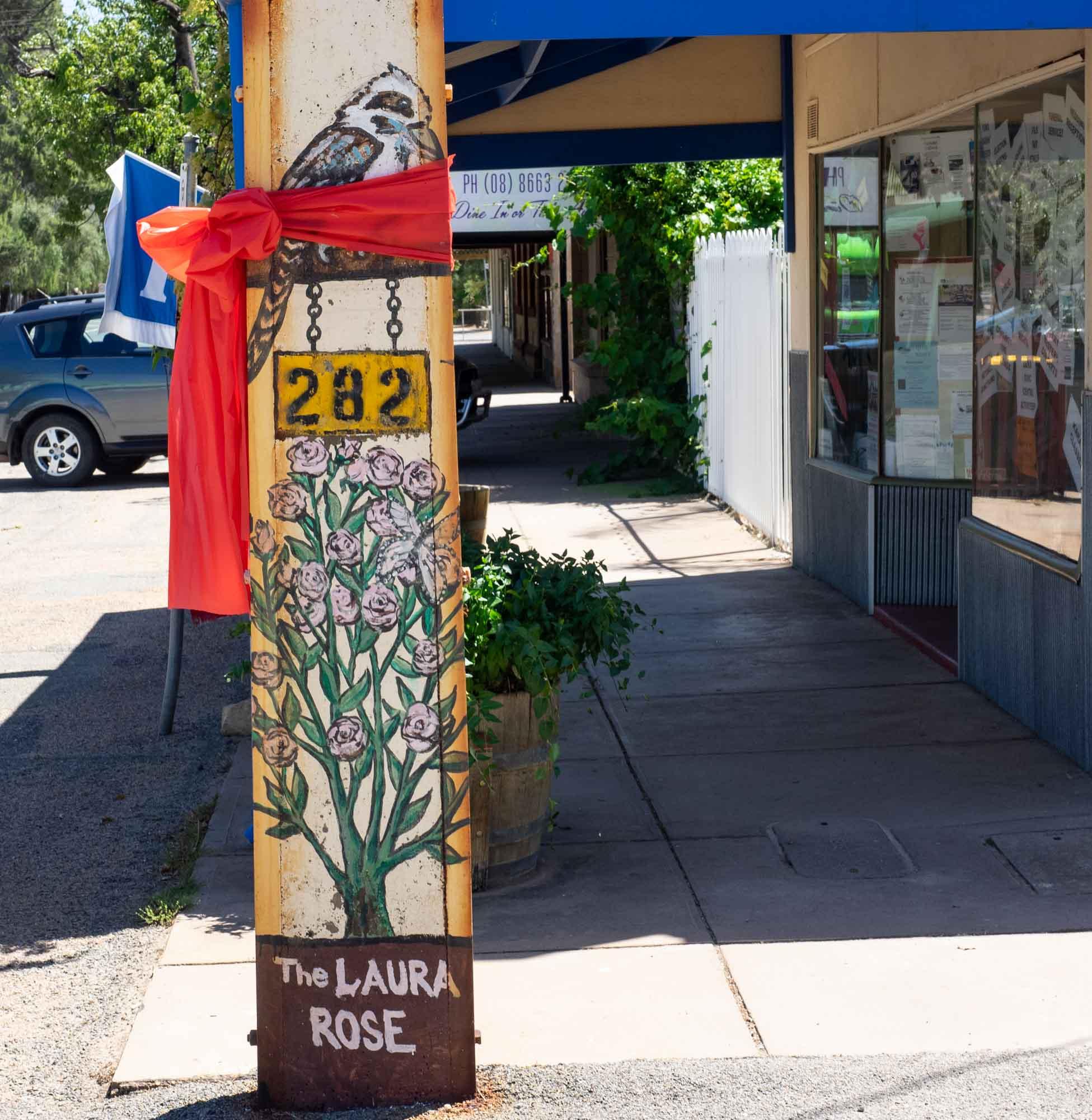 A Stobie Pole becomes artwork