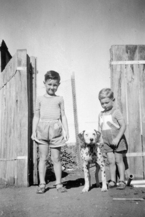 My brother Mark and I in Laura, 1956