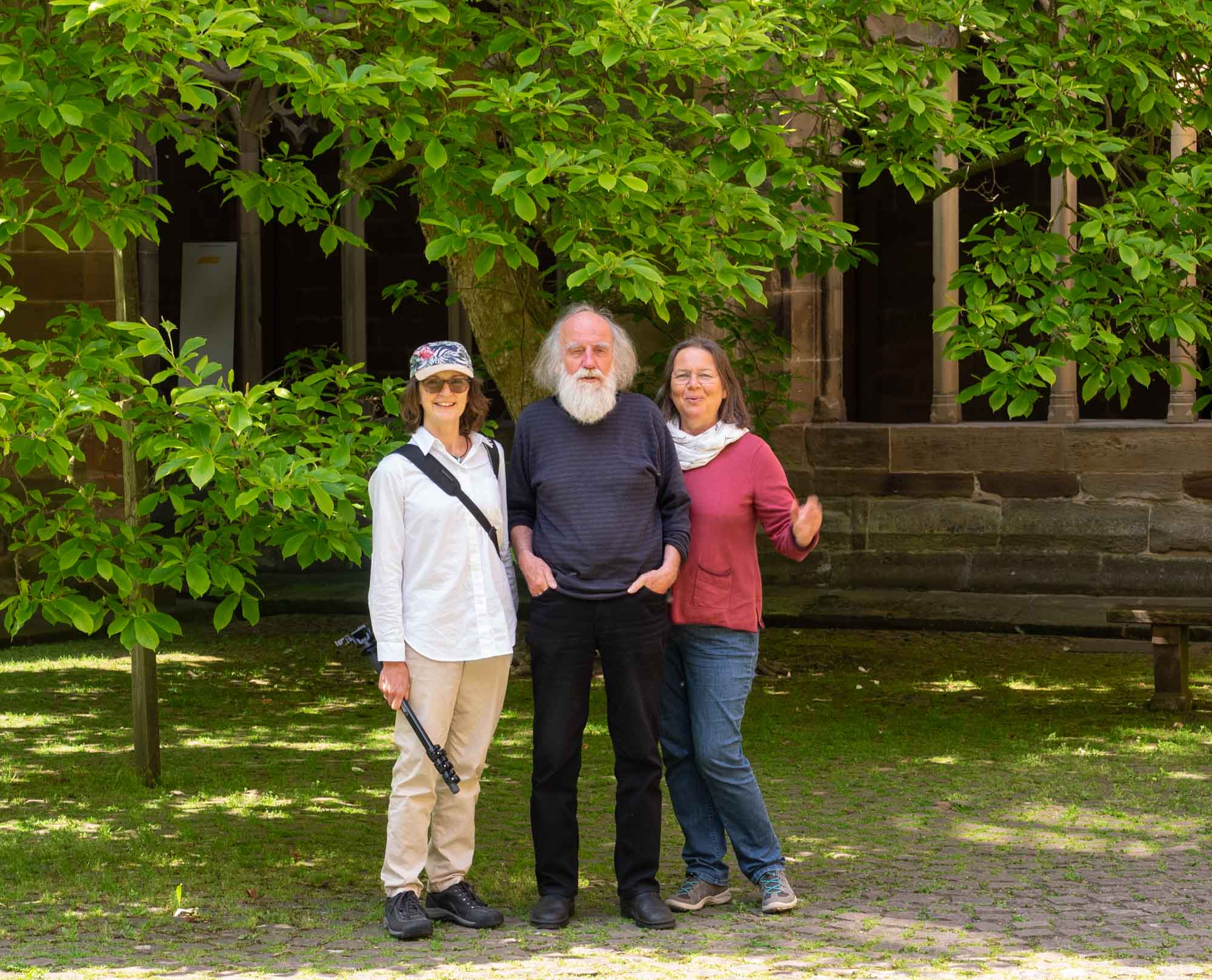 Kerri, Heinz and Anne in one of the monastery courtyards