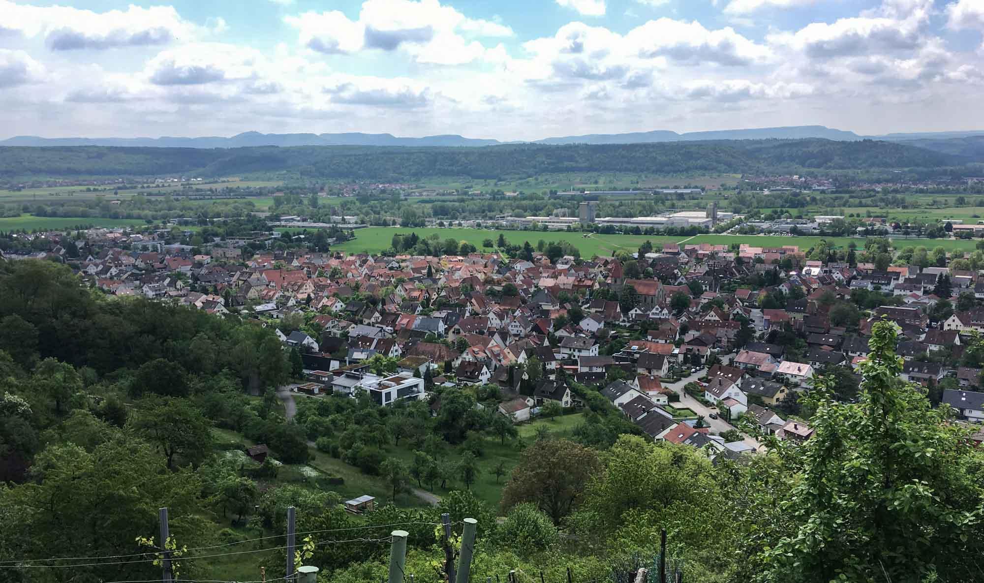 Hirschau nestled beneath Spitzberg