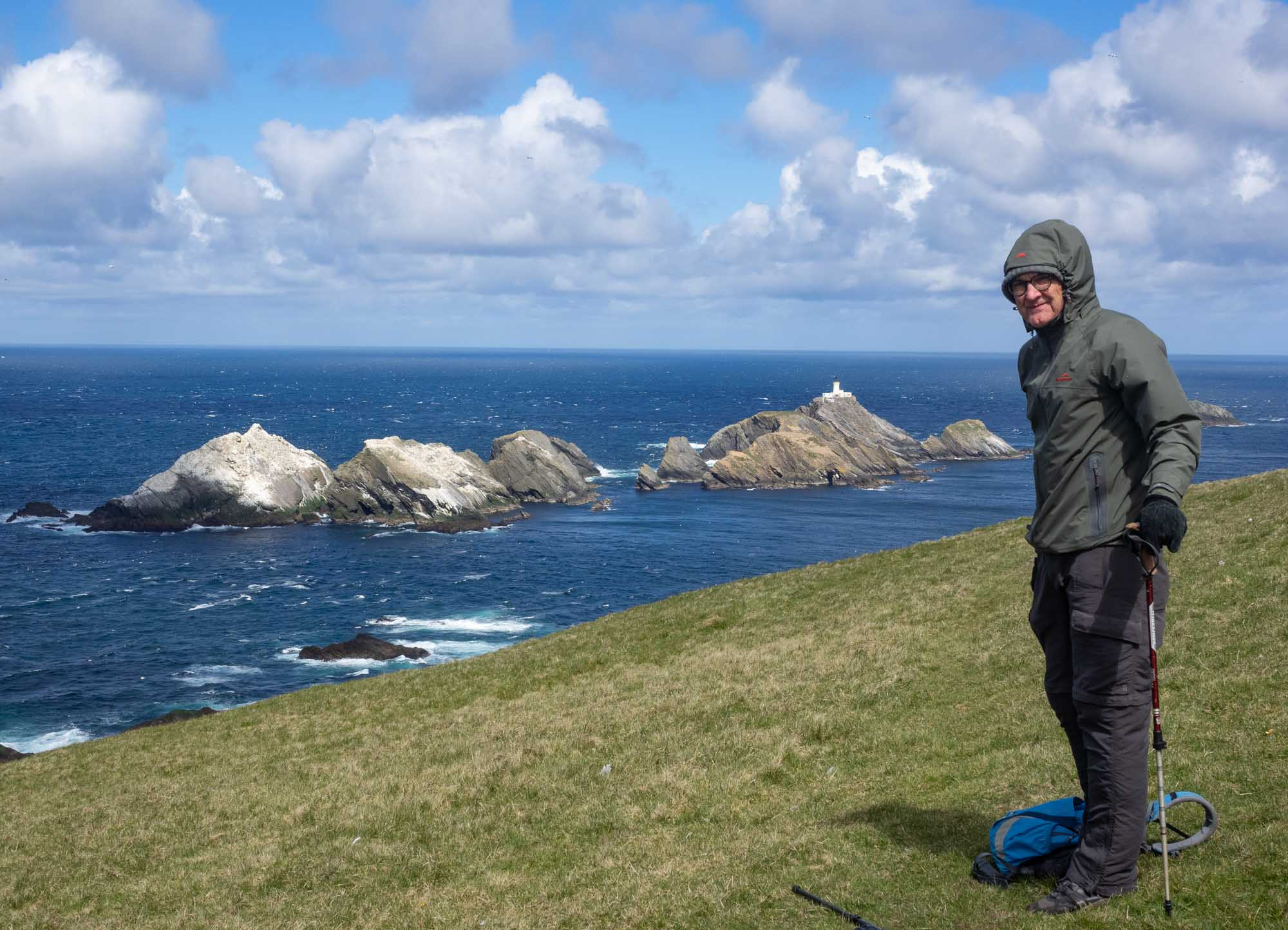The northernmost tip of Unst – and of Scotland - the islands of Muckle Flugga
