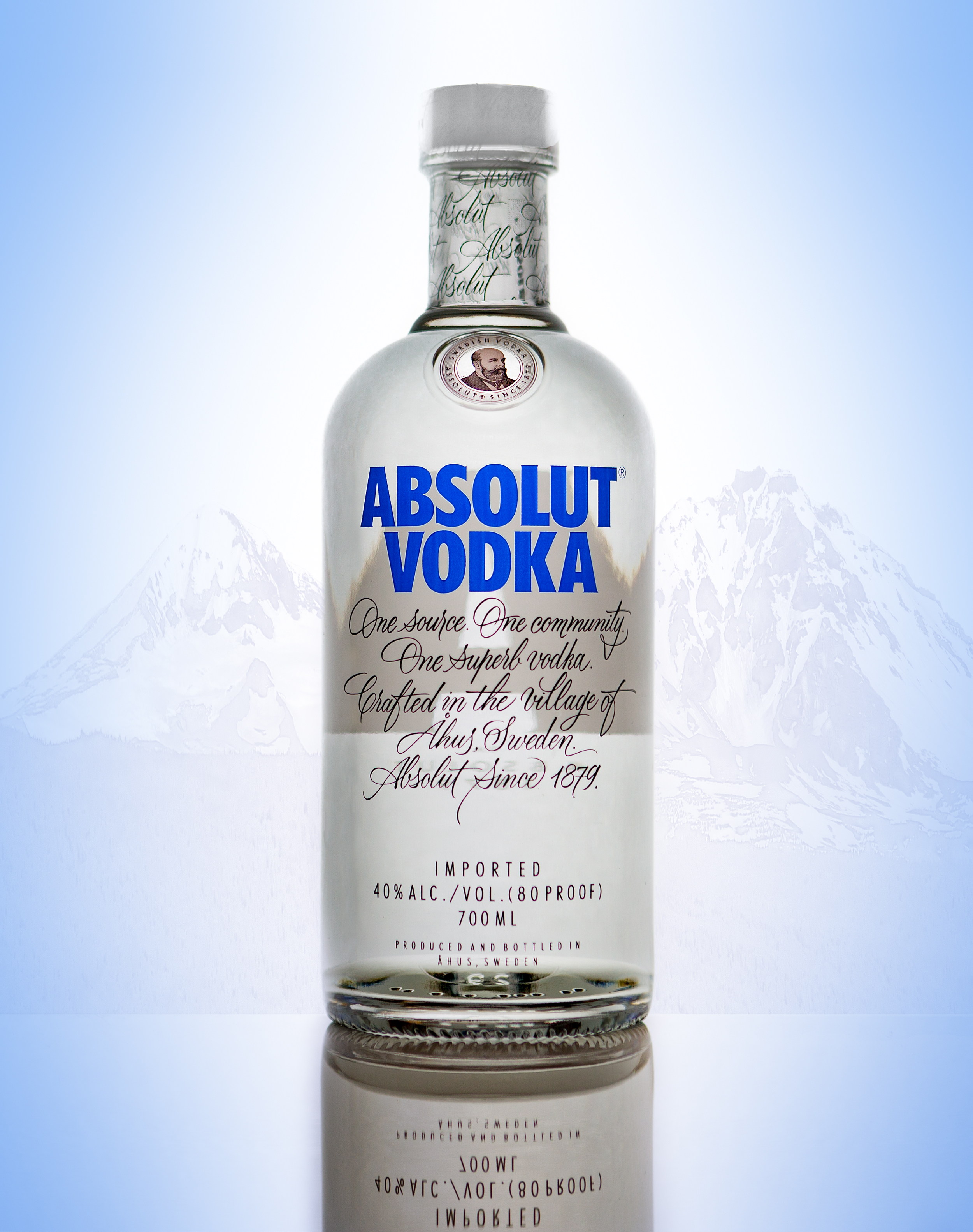 Absolut Vodka in the Mountains
